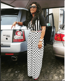 Photos: Actress Iyabo Ojo Sizzles In Slit Long Skirt And Top